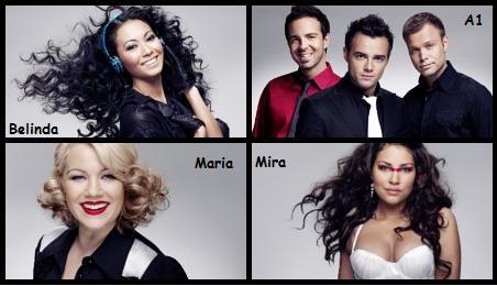 Belinda, A1, Maria og Mira